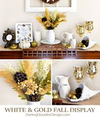 white thanksgiving white and gold thanksgiving display darling doodles