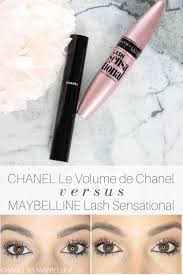 Mascara Chanel chanel le volume de chanel vs maybelline lash sensational mascara