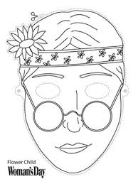 printable halloween masks flowerchild mask at womansday com