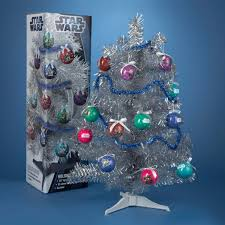how to decorate a silver tinsel christmas tree clic star wars blue