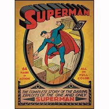 Comic Book Room Decor Superman Bedroom Decor Vintage Issue 1 Comic Cover Giant Wall