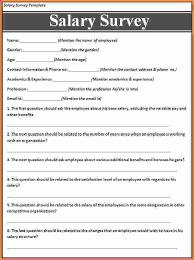 wage survey template salary survey template microsoft word