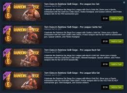 Buy Rainbow Six Siege Gold Pro League Sets On Steam Rainbow6
