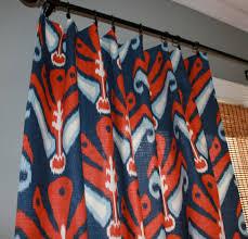 Blue Ikat Curtain Panels Navy Blue And Ikat Curtain Panels Custom Drapery In