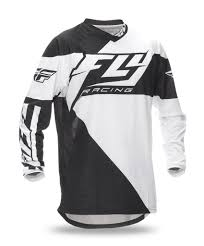 fly motocross gear 2017 5 kinetic mesh relapse black white red jersey fly racing