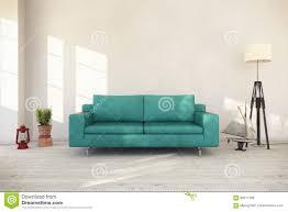3d rendering interior of scandinavian living room stock royalty free illustration