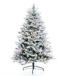 trimsetter 6 ft pre lit flocked douglas fir tree dillards