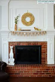fall ideas for the mantel its overflowing