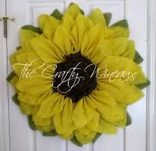 sunflower wreath large 30 yellow burlap sunflower wreath the crafty wineaux