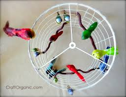 How To Make A Birdcage Chandelier Diy Bird Cage Themed L Shade Craft Organic