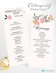 Modern Wedding Program 3 Best Images Of Modern Wedding Program Wording Wedding Program