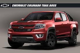 chevy colorado chevrolet releases colorado z71 trail boss 3 0 concept at sema