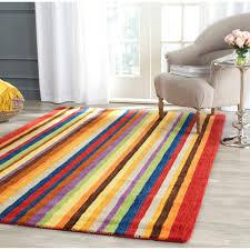 Multicolored Rug Safavieh Handmade Himalaya Red Multicolored Stripe Wool Gabbeh