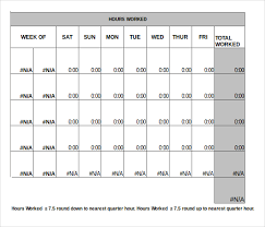 Timesheet Excel Template 13 Monthly Timesheet Templates Free Sle Exle Format