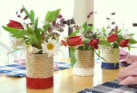themed repurposed tin can vase