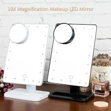 makeup mirror 10x magnification with light 20 led lighted touch makeup cosmetic tabletop vanity mirror 10x