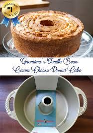 grandma u0027s vanilla bean cream cheese pound cake
