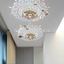 top ceilling mirror wall sticker top lighting the ceiling