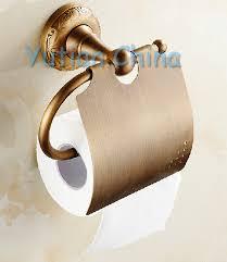 antique brass bathroom accessories set robe hook paper holder