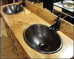 Hammered Copper Bathroom Sink Vanities Bathroom Vanity Copper Vessel Sink Copper Bathroom