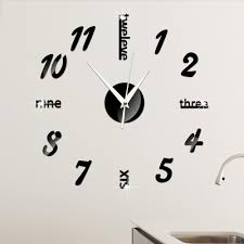 Minimalist Clock by 2016 Diy Clock Mirror Sticker 3d Acrylic Wall Stickers Home