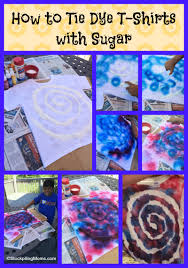 how to tie dye t shirts with sugar