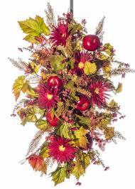 apple u0026 zinnia wreath swag centerpiece fw918 c darby creek trading