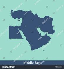 Middle Eastern Map Middle East Map Stock Vector 577200523 Shutterstock