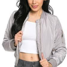 light bomber jacket womens classic flight bomber jacket in light from sohogirl com