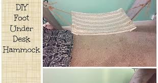 the dabbling crafter diy sunday diy foot under desk hammock