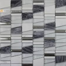 mixed glass marble and metal mosiac tiles unique