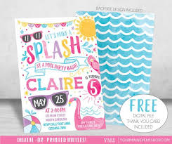 best 25 swim party invitations ideas on pinterest beach party
