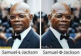 Samuel L Jackson Memes - samuel l jackson samuel d jackson comparison chemistry starecat com