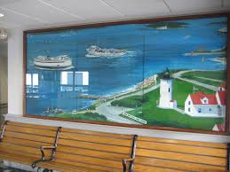 wall murals decorative painting steamship authority mural woods hole cape cod