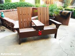 Adirondack Bench Diy Double Adirondack Chair Bench Myoutdoorplans Free