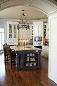 standard counter height kitchen traditional with curved edge blue