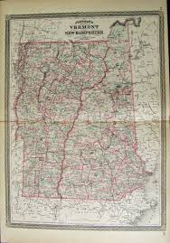Map Of Vermont And New Hampshire Prints Old U0026 Rare Vermont Page