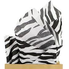 zebra tissue paper wrap it up partyzz