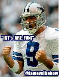 Romo Interception Meme - 10 funny sports memes 2 tony romo ints