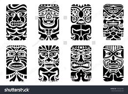 easy edit vector illustration tiki mask stock vector 176122745