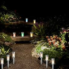 landscape solar lights led waterproof pathway glass stainless