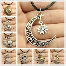 aliexpress moon necklace images New fashion jewelry chain link design crescent moon sun star jpg