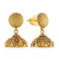 gold earrings online ethnix gold earring dg216253 women online malabar gold diamonds