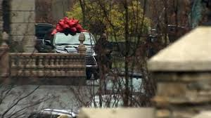white lexus with bow teresa giudice released from prison receives lexus for christmas