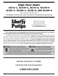 liberty pumps ae series user manual 12 pages