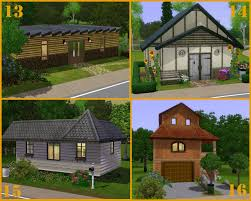 Starter Homes by Mod The Sims 20 Base Game Starter Homes No Cc