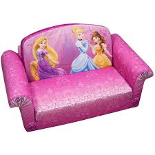 Mickey Mouse Sofa Bed by Marshmallow 2 In 1 Flip Open Sofa Disney Princess Walmart Com