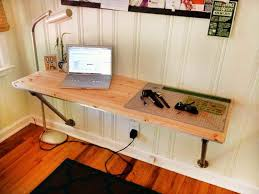 Floating Desks Diy Floating Desk Diy Floating Wood Desk With Pipe 13 Office