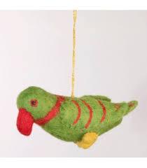 felt birds embroidered felt bird ornaments nepal felt