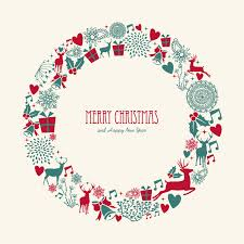 graphic christmas wreath printable u2013 merry christmas u0026 happy new